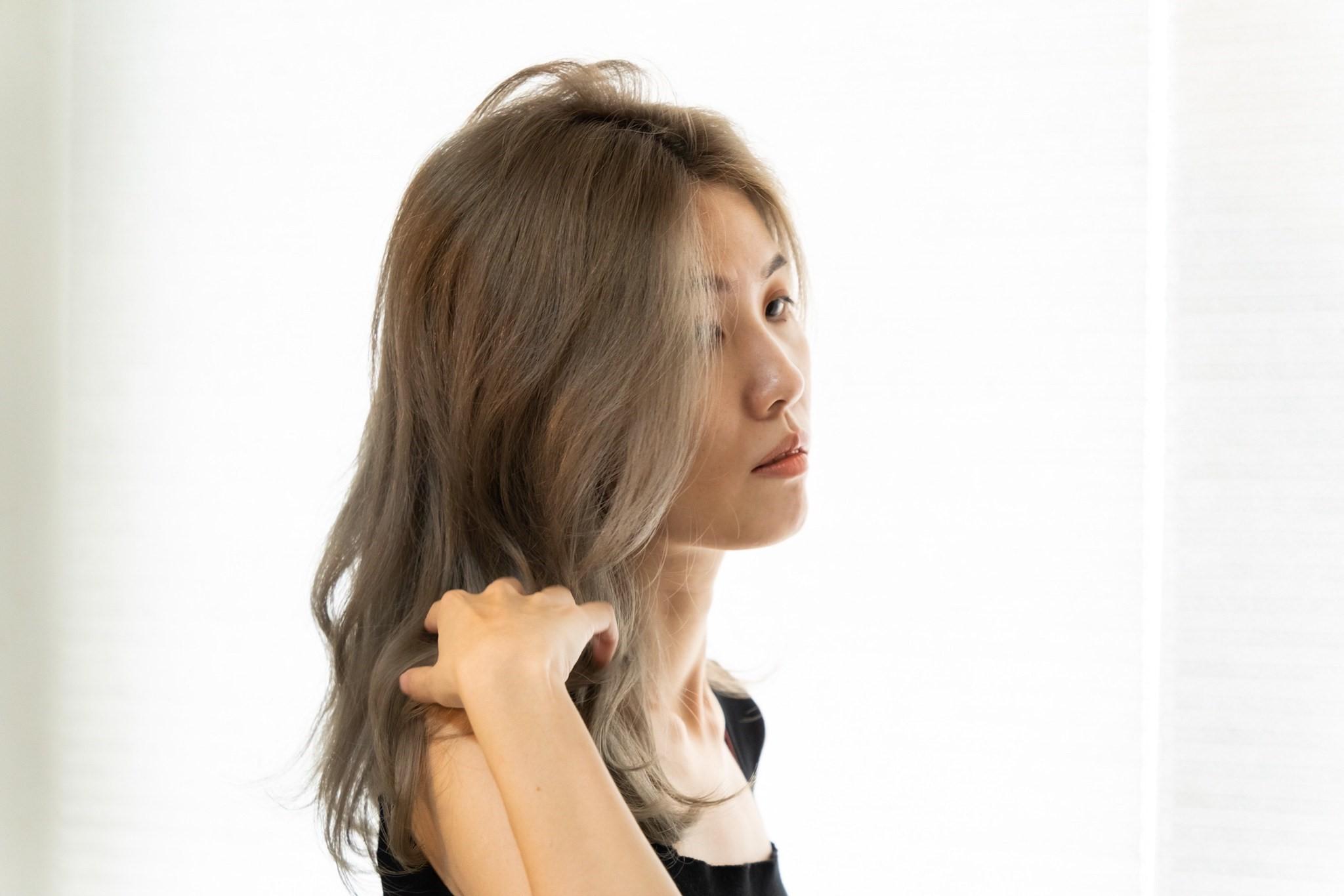 染髮 後 奶茶灰色