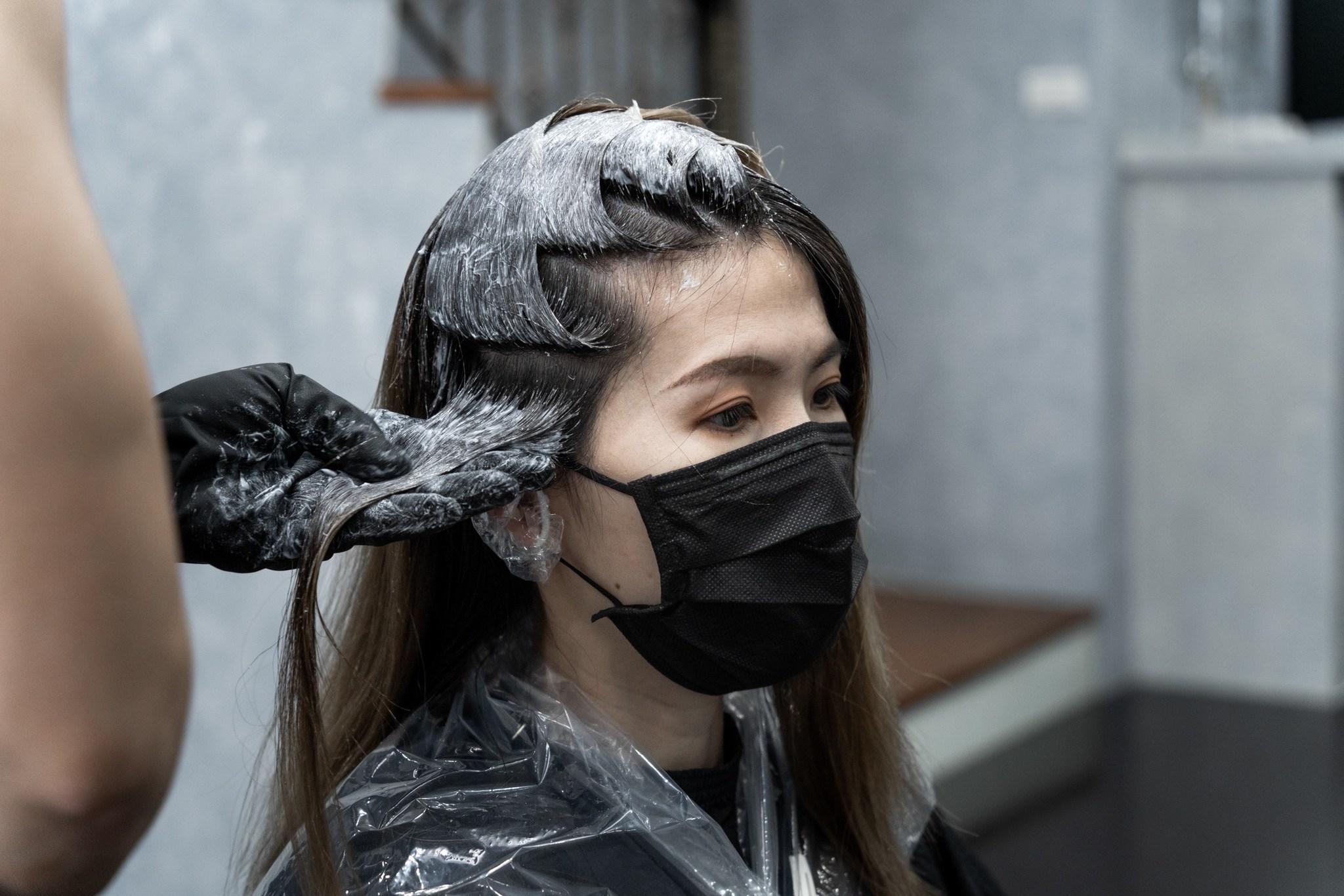 染髮 過程